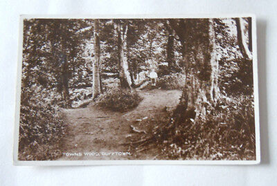 DUFFTOWN, The Towns Wood, with ghostly boy, RP, Circa 1906 Used G-VG