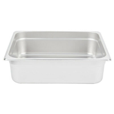 """(6-Pack) 2/3 Size 4"""" Deep Stainless Steel Steam Table Hotel Pan"""