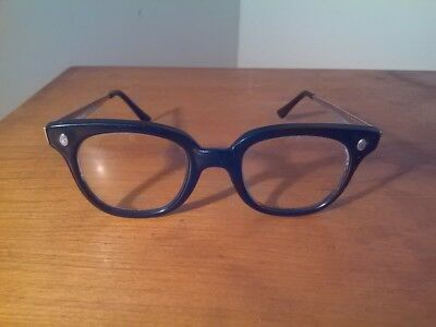 VTG Fendall Eyeglasses - Safety Glasses Black Frame Stainless Temples - No Rx