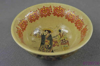 Chinese Ancient Collectable Old Porcelain Drawing Tang Urban Belle Lucky Bowl