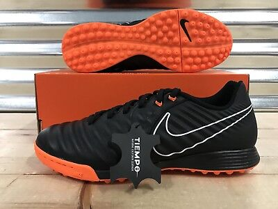 Nike Tiempo LegendX 7 Academy TF Turf Soccer Shoes Black Orange SZ  (AH7243-080