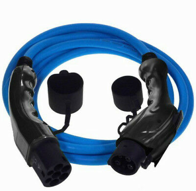 EV Charging Cable Type 1 to Type 2 5 Year Warranty in Blue Includes Carry Case