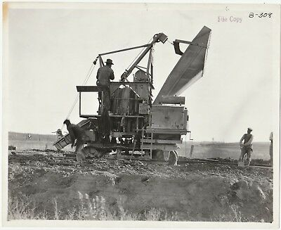 SUPER Original Photo - Road Construction - Carbon Cliff Illinois IL  1921