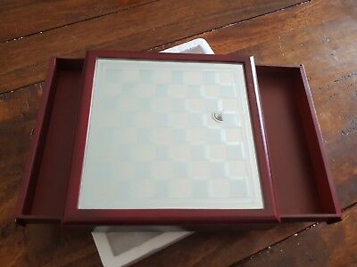 Glass and Wood Chess Board