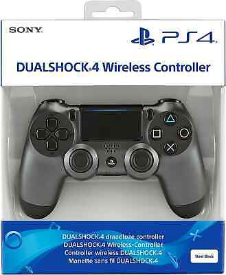 Sony DualShock 4 Controller PS4 Game Pad Wireless Steel Black 9868262