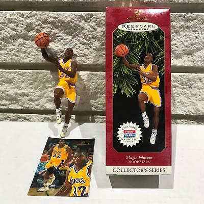 1997 Hallmark Keepsake Ornament MAGIC JOHNSON Hoop Stars NBA LA LAKERS