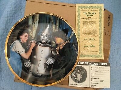 The Tin Man Speaks from The Wizard of Oz Hamilton Collection (Gold Rim)