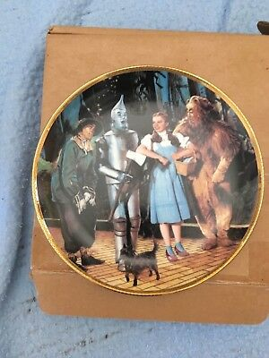 """WE""""RE OFF TO SEE THE WIZARD FROM THE WIZARD OF OZ HAMILTON COLLECTION (Gold Rim)"""
