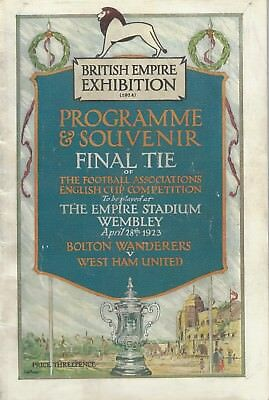 1923 Fa Cup Final - Official Original