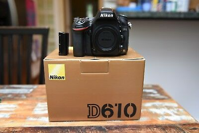 Nikon D610 24.3MP Digital SLR Camera - Black (Body Only) with low shutter count