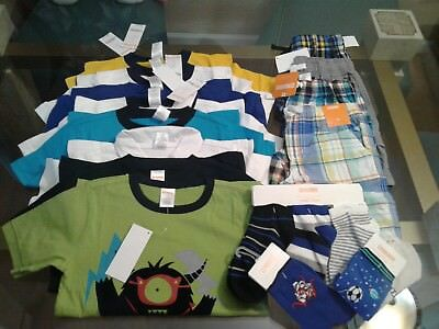 Nwt $263  Rv Gymboree Outlet Boys Size  5 5T  15 Pcs  Lot Outfits Summer Spring