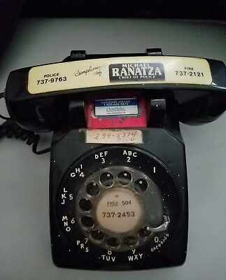 Rotary Phone, South Central Bell, Western Electric, Black