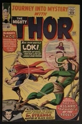 Journey into Mystery #108 (Sep 1964, Marvel) Early Loki App. Dr Strange X-Over