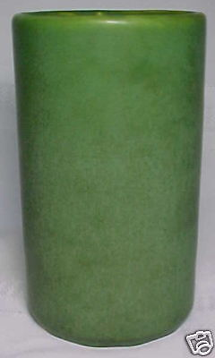 Hampshire Pottery, Matte Green, Large Cylindrical Vase~