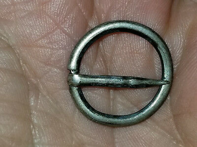 Missouri Col. Rare And HTF Fur Trade Plain Ring Brooch, Silver,Unmarked