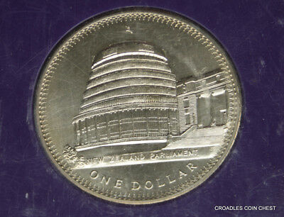 "1978 New Zealand Cased Large Dollar Uncirculated ""Bee Hive"" Coronation  #Wbr20"