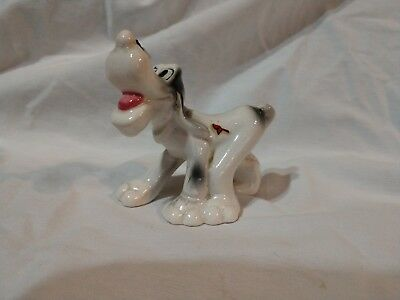 Vintage ceramic comical dog with fly