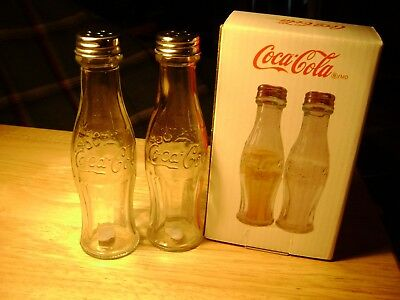 Liscensed Coca Cola Large Size Salt and Pepper Shaker Set New In Box
