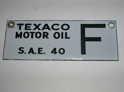 Porcelain Texaco Oil Tag 2 Sided S.A.E. 40 F.