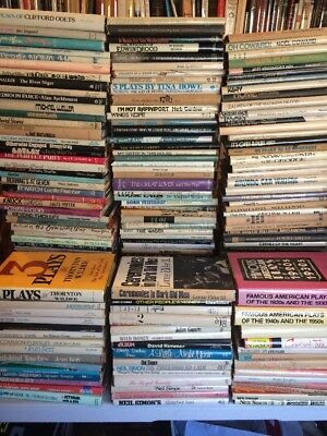 Huge Lot 180 Hardback Plays DRAMATISTS  Coward,O'Neill,Simon, More Free Shipping