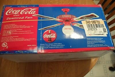 Lamps lighting coca cola soda advertising collectibles vintage 1990s coca cola ceiling fan new in box coke free shipping s0314 44 inch aloadofball Gallery