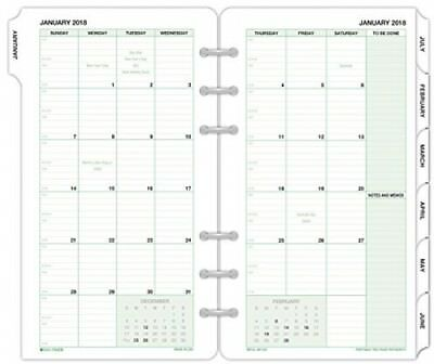 Day-Timer Refill Two Page Per Month January 2018 December 2018 3-3/4 X 6-3/4