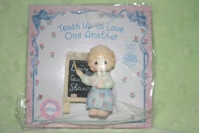 Precious Moments (Enesco) Pin-Teach Us To Love One Another -1996 Club Member