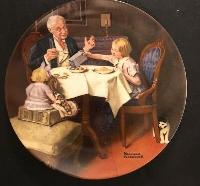 Norman Rockwell Heritage Collection Plate The Gourmet