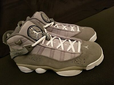 Nike Air Jordan 6 Rings GS Boys Size 4Y Silver Grey Basketball Shoes 323419-014