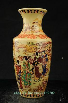 Chinese Famille Rose Porcelain Vase hand-painted Maid Big Vase collect