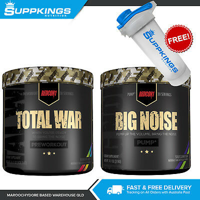 REDCON1 TOTAL WAR 30 serve Pre Workout Powder PLUS REDCON1 BIG NOISE 30 serve