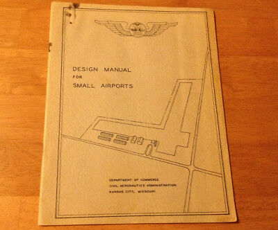 Rare Vintage Design Manual for Small Airports Aviation Collectible Booklet Book