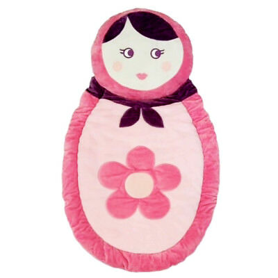 Living Textiles ADELE Play Mat 92 x 56cm PINK/WHITE/PURPLE