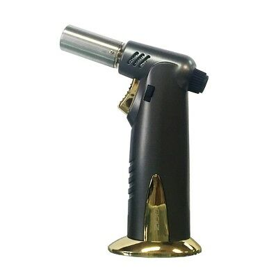 Zico (ORIGINAL) Ergo Grip Refillable Butane Jet Torch Gun Lighter (Black)