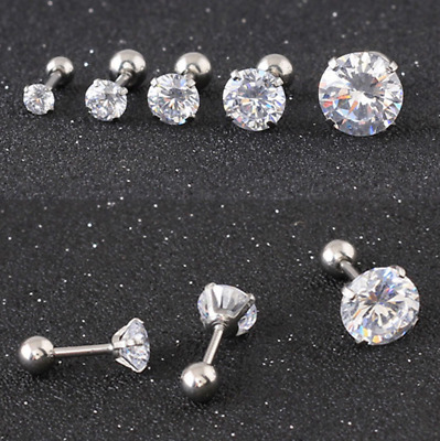 Claws Zircon Small Stud Earrings Titanium steel Ear studs /Anti Allergy