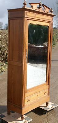 FANTASTIC  LATE 19th CENTURY ANTIQUE FRENCH PINE ARMOIRE  / WARDROBE
