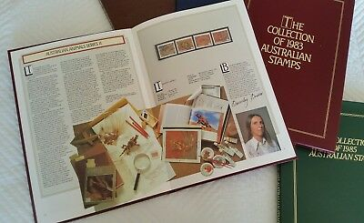 Collection of Australian Stamps 1981, 1982, 1983, 1984 and 1985 Australia Post
