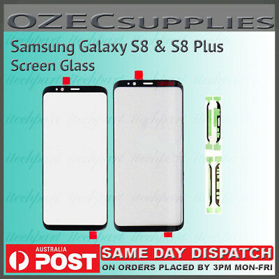 Samsung Galaxy S8 S8+ Front Screen Glass Replacement + Adhesive