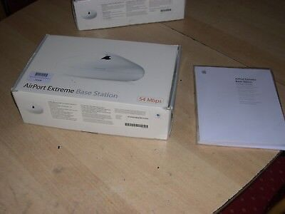 Apple AirPort Extreme Base Station 54 Mbps 10/100 Wireless G Router a1075