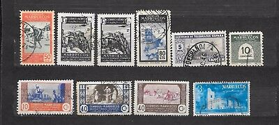 MAROCCO SPAGNOLO MARRUECOS   10 stamps USATI  lot lotto - Colonies
