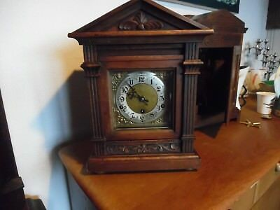 Antique Junghans German Bracket Clock Working