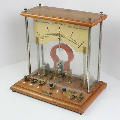 Galvanometer Messgerät Laborgerät Messinstrumment alt antik Bruno Brauns Berlin