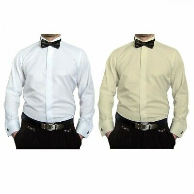 nuovo stile 743d8 0958c MATRIMONIO CAMICIA PER Smoking Uomo + Papillon Colletto Slim Fit