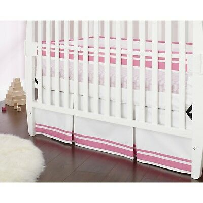 Safe Sleep Pink Crib Skirt