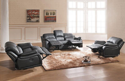 Voll-Leder TV-Sofa Schlafsofa Relaxsessel Fernsehsessel 5129-3+2+1-S sofort