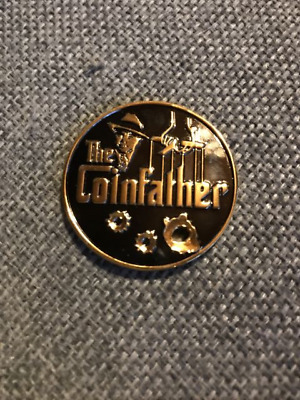 Geocoin Coinfather Two Tone Black Nickel Gold LE aktiviert