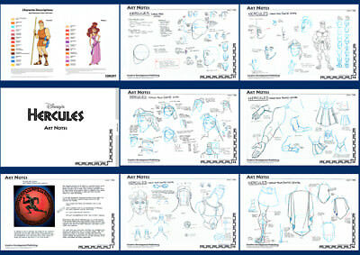 Disney Hercules (1997)  - Complete guide - character model sheets - 350 A4 pages