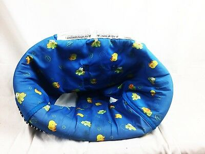 Evenflo ExerSaucer Replacement Part Seat Cover Blue Frog Turtle Chick
