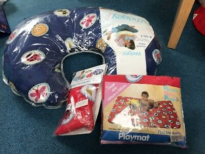 Widgey Red Fossil 4 In 1 Nursing Pillow, Spare Cover And Matching Playmat