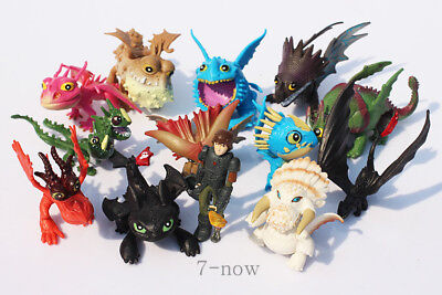 How to Train Your Dragon Action Figures 13 pcs Set Toothless Night Fury Nadder